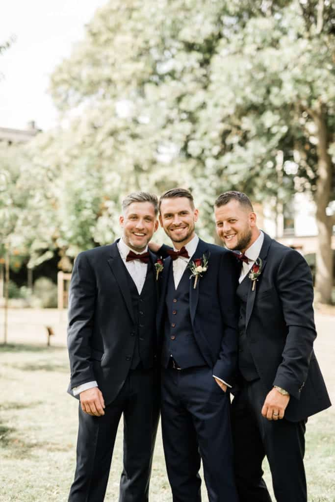 a groom and his best men